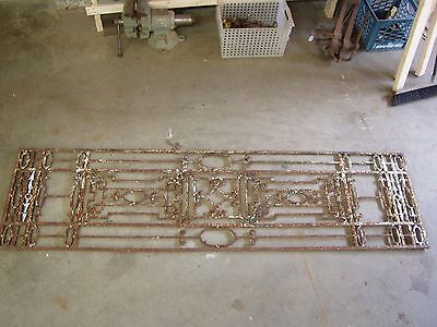 antique WROUGHT IRON  GRILL Blacksmith Made nice nice piece