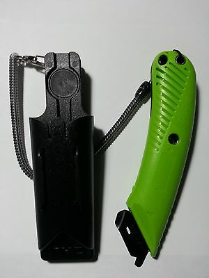 PACIFIC S5R RIGHT HANDED SAFETY cutter knife w/ lanyard holster EASY TO CUT BOX