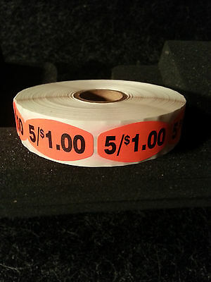 "1.5"" x .75"" 5/$1.00 LABELS 1000 ea PER ROLL 1M/RL free shipping STICKERS"