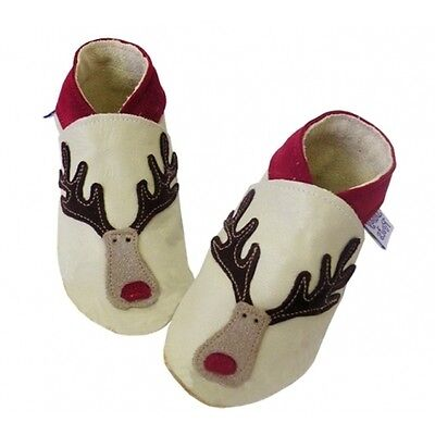 Reindeer Shoes, 6 to 12 Months, Daisy Roots, Christmas Gifts REI08/6-12
