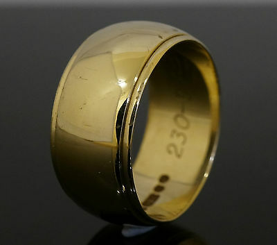 9ct Yellow Gold Wedding Band (Size M 1/2) 8mm Width