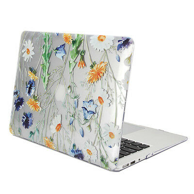 GMYLE Hard Case Print Glossy for MacBook Air 13 -  Clear Crystal Floral Pattern