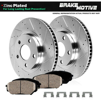 Front Drilled And Slotted Brake Rotors & Ceramic Pads Kit VW Passat Audi A4 B5