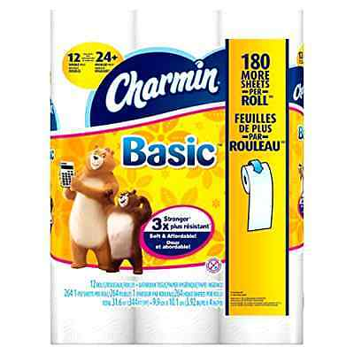 Charmin Basic Double Roll Toilet Paper 48 Count Charmin .