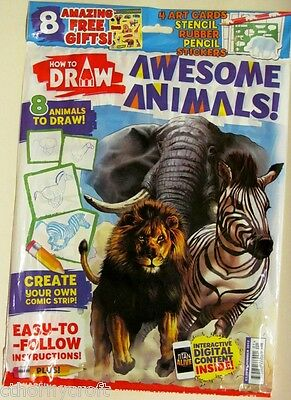 How To Draw magazine 1st Issue 2012 Awesome Animals interactive Digital Content