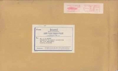 1957 Rootes Humber Hillman Sunbeam Commer USA ORIGINAL EMPTY Envelope wv9937