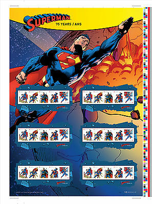75 Anniversary of Superman™ Uncut Press Sheet 2013 Poster ONLY 7,500 available