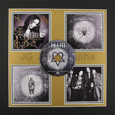H.I.M. - Finnish Rock Band - Autographed Custom Triple-Matted CD Display