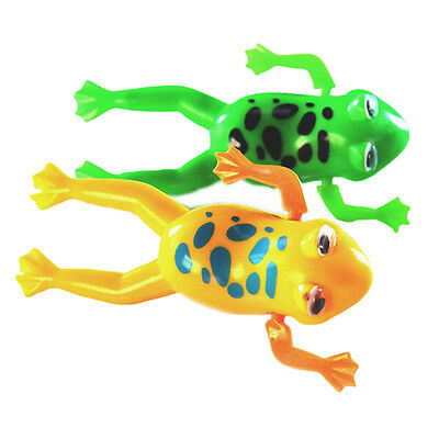 10X(Swimming Frog Battery Operated Pool Bath Toy Wind-Up Toy DW