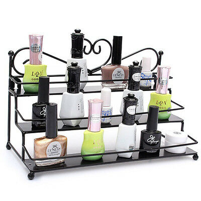Alloy Heart-design Nail Polish Wall Rack Organizer & Cosmetics Stand Holder