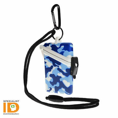Witz Surf Safe Blue Camo Waterproof ID Badge Holder - 20102
