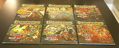 Pathfinder Adventure Path -Wrath of the Righteous - 6 modules + Map Folio