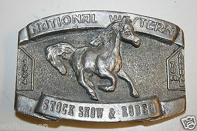 Rare 1 Of 700 Vintage 1984 National Western Stock Show & Rodeo 3D Belt Buckle