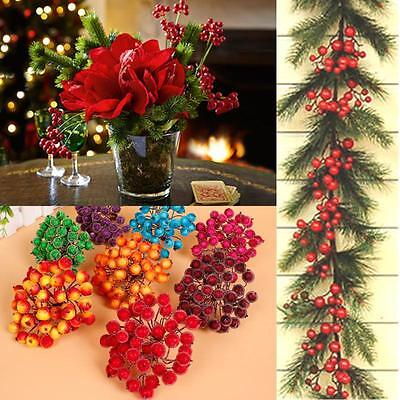 Artificial Red Berry Flowers 40 Flower Head Floral Home Wedding Christmas Decor