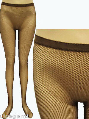 721b807fb20 Coffee - Brown Fishnet Pantyhose Seemless Tights Costume Crossdresser Drag  Queen
