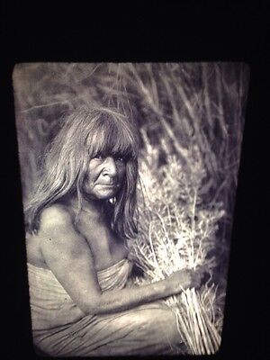 "Edward Curtis ""Arrow Brush"" Maricopa Native American photography 35mm slide"