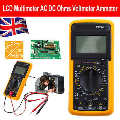 UK LCD Digital Multimeter Voltmeter AC DC Voltage Tester Circuit Checker Buzzer