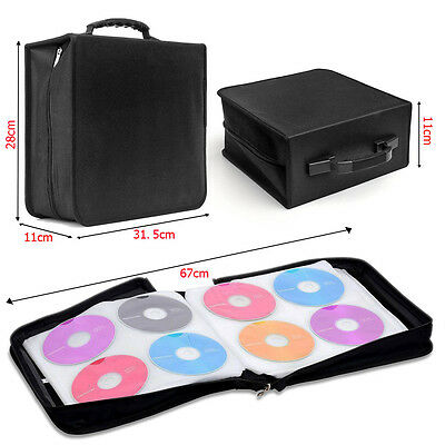 350 to 400 Sleeve CD DVD Blu Ray Disc Case Holder Bag Wallet Storage