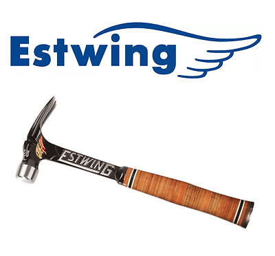 NEW ESTWING 15oz LEATHER-Grip ULTRA-Series Claw Nail Hammer Smooth Face E15SR