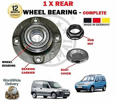 For Citroen Berlingo Mpv + Van Mf New 1 X Rear Wheel Bearing Kit Complete