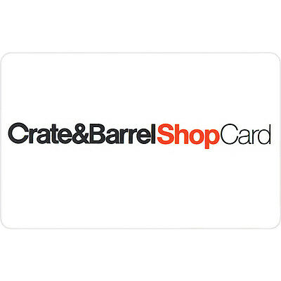 $50 Crate & Barrel Physical Gift Card - FREE Standard 1st Class Mail Delivery