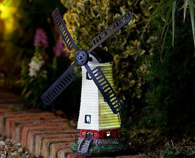 Spinning Garden Windmill. Solar Powered Bright LEDs. For Outdoor Decoration.