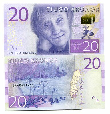Sweden 20 Kronor Nd(2015) P-New Unc