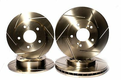 Honda Civic 2.0 Type R Front Rear Evora Sport Grooved Brake Discs EP3