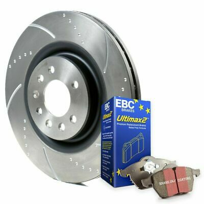 Focus ST225 Front Rear Brake Discs Performance Grooved & Brembo Pads Ford 2.5 ST