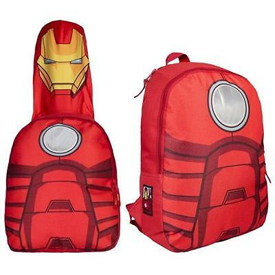 Iron Man - Hooded Costume Backpack / Rucksack - New & Official Marvel Comics