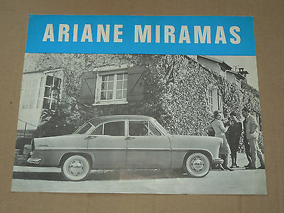 Prospectus SIMCA ARIANE MIRAMAS, catalogue, prospekt, brochure car