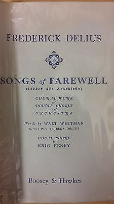Delius: Songs Of Farewell: Music Score (G4)