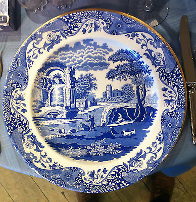 """Spode Blue Italian Buffet Plate Charger 12 5/8"""" Made in England"""