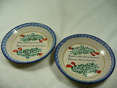 Assiettes Creuses Parlantes Bisson Nevers 19Eme Soup Plate Bisson 19Th Nevers