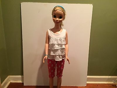 My Size Barbie Outfit - Pink Capris & White Ruffled Blouse + Headband & Bracelet