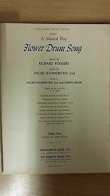 Flower Drum Song: Rodgers And Hammerstein: Music Score (D4)