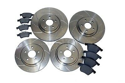 Ford Focus 2.5 ST ST225 Front Rear Evora Dimpled Grooved Brake Discs & Pads