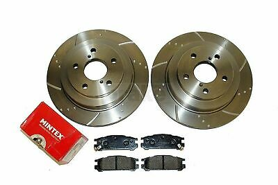 Rear Dimpled Grooved Brake Discs Mintex Pads Impreza GC8