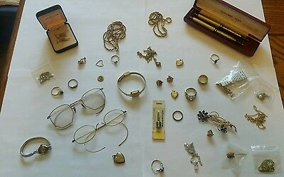 HUGE! Lot of 10k 12k 14k Gold Filled Scrap Wholesale 180 Grams RINGS WATCHES ETC