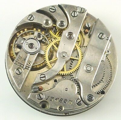 Unsigned, Swiss High - Grade Pocket Watch Movement - Spare Parts / Repair!
