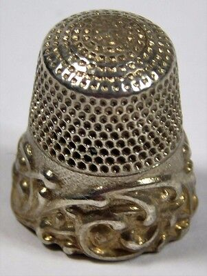 Vtg KETCHAM MCDOUGALL Repousse Sterling Silver Thimble