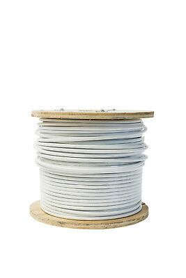 Nylon Coated AISI 316 Wire Rope 7 X 7 - 100 Metre Reel - O/S diameter 8mm, I/S d