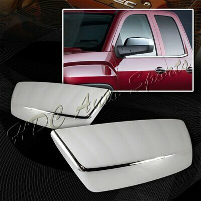 For 2014-2015 Chevy Silverado/GMC Sierra 1500 Chrome ABS Side Mirror Cover Cap