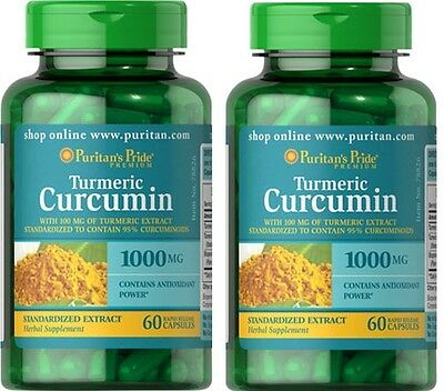 2X Turmeric Curcumin 1000 mg with Bioperine x 60 (120) Capsules - 24HR DISPATCH