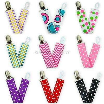 Baby Boy Girl Child Dummy Pacifier Soother Nipple Leash Strap Chain Clip Holder