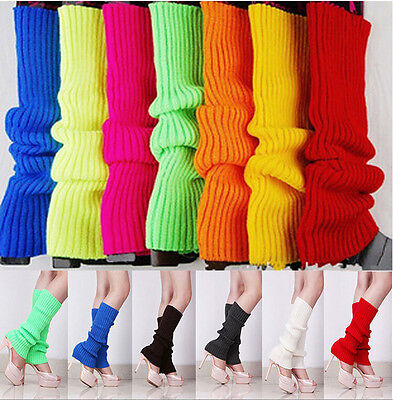 Leg warmers/warmer Stocking knit socks 80s costume pink/red/green/black/white