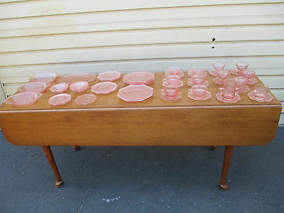COL FS:     LOT  54 Pieces  ANTIQUE  PINK DEPRESSION GLASS DISHES
