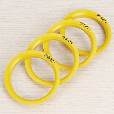 4PCS Spigot Rings 66.6 - 57.1 For Audi, VW, Mercedes, Seat, Skoda