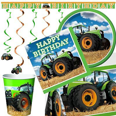 Tractor Time Party Birthday Supplies Tableware Decorations Boys Girls Farm