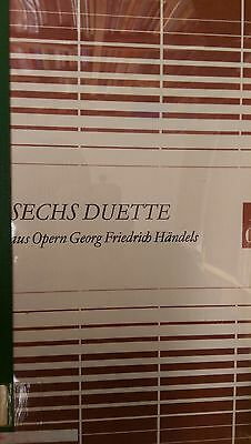 Six Duets From The Operas of Handel: Music Score (C4)
